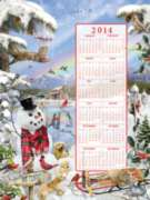 Winter 2014 Calendar - 500pc Jigsaw Puzzle By Sunsout