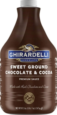 Ghirardelli Sweet Ground Chocolate Sauce - 64 oz. Bottle