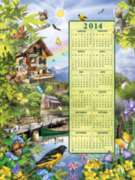 Summer 2014 Calendar - 500pc Jigsaw Puzzle By Sunsout