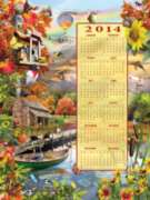 Autumn 2014 Calendar - 500pc Jigsaw Puzzle By Sunsout