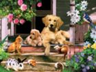 Summer on the Porch - 300pc Large Format Jigsaw Puzzle By Sunsout