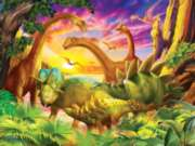Dino Delight - 300pc Large Format Jigsaw Puzzle For Kids by Sunsout