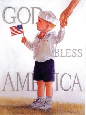 Large Format Jigsaw Puzzles - God Bless America