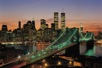 New York, USA - 1000pc Glow in the Dark Jigsaw Puzzle By Tomax