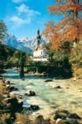 Ramsau Church - 1000pc Jigsaw Puzzle By Tomax