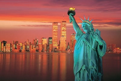 Statue of Liberty - 1000pc Glow in the Dark Jigsaw Puzzle By Tomax