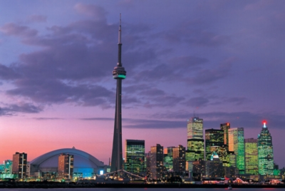 CN Tower, Toronto, Canada - 1000pc Glow in the Dark Jigsaw Puzzle By Tomax