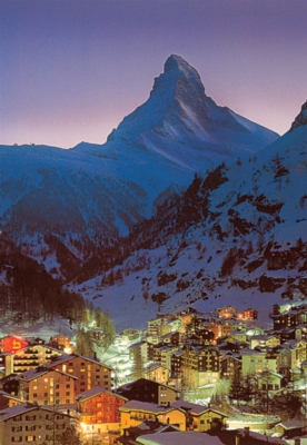 Night in Zermatt - 300pc Glow in the Dark Jigsaw Puzzle By Tomax