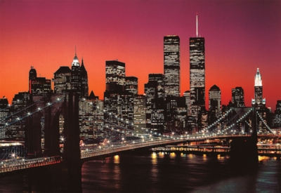 Twilight in New York - 300pc Glow in the Dark Jigsaw Puzzle By Tomax