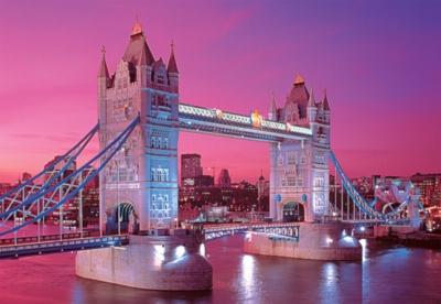 Tower Bridge, London, England - 300pc Glow in the Dark Jigsaw Puzzle By Tomax