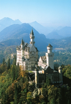 Neuschwanstein Castle - 300pc Glow in the Dark Jigsaw Puzzle By Tomax
