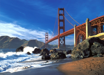 Golden Gate Bridge, San Francisco - 500pc Glow in the Dark Jigsaw Puzzle By Tomax