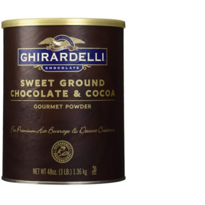 Ghirardelli Sweet Ground Chocolate and Cocoa Powder - 3 lb. Can