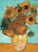 Vase with Twelve Sunflowers Mosaic - 500pc Photomosaic Jigsaw Puzzle By Tomax