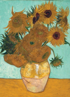 Vase with Twelve Sunflowers - 500pc Jigsaw Puzzle By Tomax