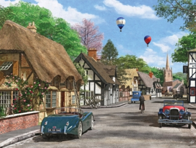 Cottage Lane - 1000pc Jigsaw Puzzle by White Mountain