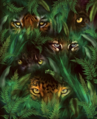 Jungle Eyes - 1500pc Jigsaw Puzzle By Sunsout