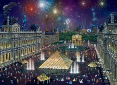 The Louvre - 1500pc Jigsaw Puzzle By Sunsout