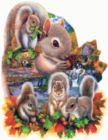 Autumn Squirrel - 1000pc Shaped Jigsaw Puzzle By Sunsout
