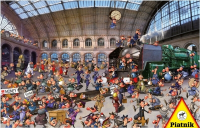 Train Station - 1000pc Jigsaw Puzzle by Piatnik