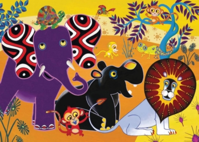Jigsaw Puzzles for Kids - Tinga Tinga Tales� -Jungle Gathering