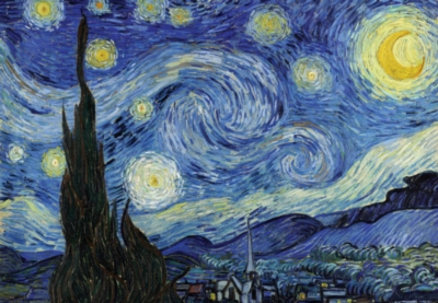 Starry Night - 300pc Glow in the Dark Jigsaw Puzzle By Tomax
