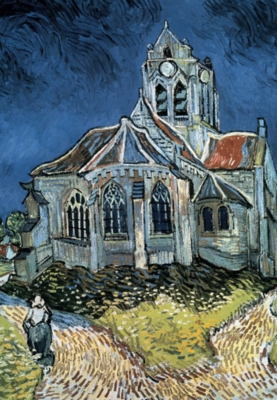 The Church at Auvers - 300pc Glow in the Dark Jigsaw Puzzle By Tomax
