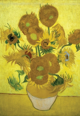 Vase of Sunflowers - 300pc Glow in the Dark Jigsaw Puzzle By Tomax