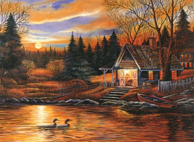 Romantic Scenery - 500pc Glow in the Dark Jigsaw Puzzle By Tomax