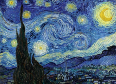 Starry Night - 500pc Glow in the Dark Jigsaw Puzzle By Tomax