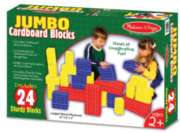 Jumbo Cardboard Blocks - 24 pc Cardboard Blocks Set by Melissa & Doug