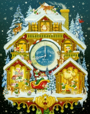 Christmas Cuckoo Clock - 1000pc Jigsaw Puzzle