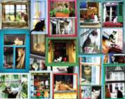 Window Cats - 1000pc Jigsaw Puzzle by White Mountain