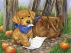 The Dog Ate My Homework - 300pc Large Format Jigsaw Puzzle by Sunsout