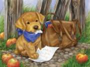 The Dog Ate My Homework - 300pc Jigsaw Puzzle By Sunsout