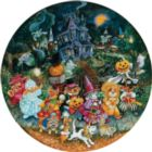 Howl-o-ween Dogs - 500pc Round Jigsaw Puzzle By Sunsout
