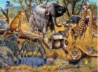 African Sunset - 1000pc Jigsaw Puzzle By Sunsout