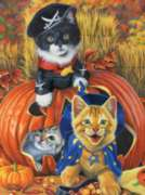 Halloween Kittens - 1000pc Jigsaw Puzzle By Sunsout