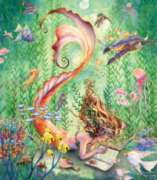Mermaid at Rest - 300pc Large Format Jigsaw Puzzle by Sunsout
