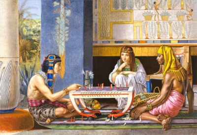 Egyptian Chess Players - 1000pc By Castorland