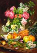 Jigsaw Puzzles - Roses in a Vase