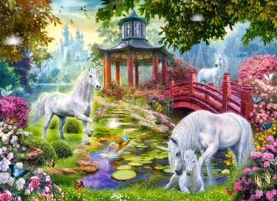 Unicorn Summer - 260pc Jigsaw Puzzle by Castorland