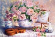 Hard Jigsaw Puzzles - Roses for the Soiree