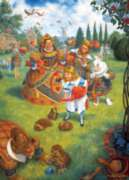 The Queen's Croquet - 1000pc Jigsaw Puzzle by Masterpieces