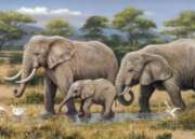Elephant Safari - 1000pc Jigsaw Puzzle By Holdson