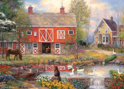 Reflections on country living 1000pc jigsaw puzzle by holdson