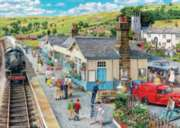 The Village Station - 1000pc Jigsaw Puzzle By Holdson