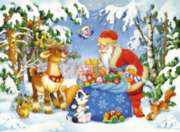 Jigsaw Puzzles for Kids - Santa and His Pack