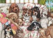 Puppies - 1000pc Jigsaw Puzzle by Perre