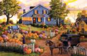 The Cow and the Pumpkin - 1000pc Jigsaw Puzzle By Sunsout